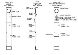 amp rv electrical service pedestal metered electrical 100 amp rv electrical service pedestal metered diagram