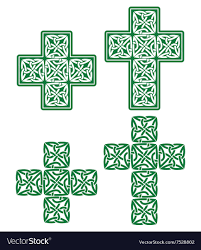 Cross Designs Celtic Cross Set Of Traditional Green Designs