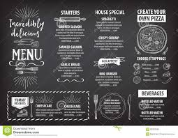 Cafe Menu Template Restaurant Cafe Menu Template Design Stock Vector Illustration 5