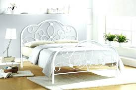 medium size of white metal full size bed of steel frame wrought iron canopy antique image