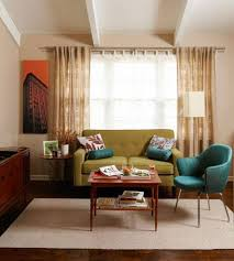 Sage Green Living Room Retro Living Room Ideas With Sage Green Loveseat And Blue Chair