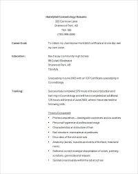 Sample Cosmetology Resume Mesmerizing Cosmetology Resume Templates Hair Stylist Template 44 Free 44 Salon