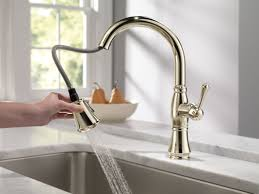 kitchen faucet with pull out sprayer nickel