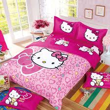 kids s cartoon hello kitty minions mermaid bedding set 3 4pcs duvet cover bedsheet pillowcase