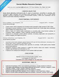 Social Media Skills Resume Skill Section Resume Skills For Resumes Examples Included Resume 9