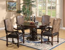 Coaster Furniture Walnut 5 Piece Dining SetTable 4 Arm Chair