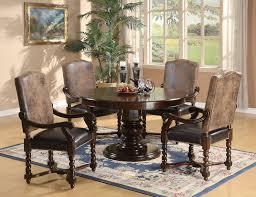 Coaster Furniture Walnut 5 Piece Dining SetTable 4 Arm Chair