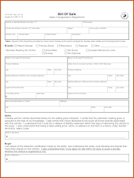 Dmv Bill Of Sale Bill Of Sale Template Ri Sop Example 20