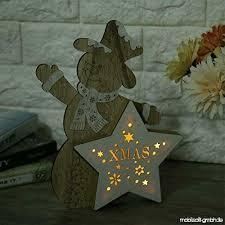 Delisouls Weihnachten Dekorativ Led Licht Holz Weihnachten