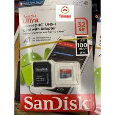 Thẻ nhớ MicroSDXC SanDisk Ultra A1 UHS-I 8G 16G 32G 64GB 128G Class 10  UHS-I 100MB/s 667x chính hãng 85,000đ