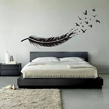 unusual idea feather wall decor com birds of a decals vinyl mural bird target