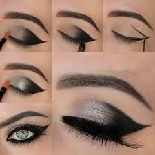 mwtallic grey winged smokey eyes tutorial