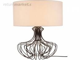 1387488651 inspire 5 light clear chandelier returnmarket jpg 1387488651 inspire cage metal table lamp returnmarket business jpg