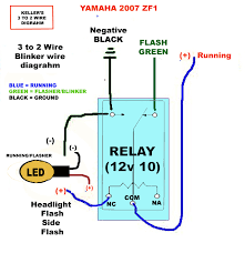 how to 3 wire to 2 wire indicators running lights sportbikes net click image for larger version relay diagram2 jpg views 35717 size