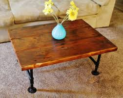 Coffee Table, Reclaimed Wood Coffee Table With Pipe Table Legs, Rustic Coffee  Table,