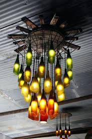 wine bottle lights chandeliers homemade chandelier diy ideas of how to recycle bottles wisely