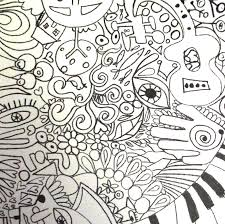 Trippy Coloring Pages Rock Art Series