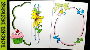 Border Designs Images Pictures Ribbon Draw Border Designs On Paper Border Designs Project Work Designs Borders For Projects