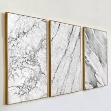 Online Shop <b>Abstract</b> Gray Marble Vein Canvas Painting <b>Poster</b> ...