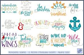 Free Machine Embroidery Sayings Designs Motivational Sayings 12 Embroidery Designs
