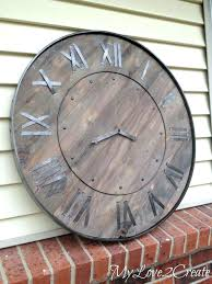 large wooden wall clock large wooden wall clocks large rustic clock oversized wood wall clocks large