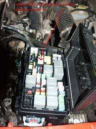 help jk won t start push the two little tabs in to open the top of the fuse box
