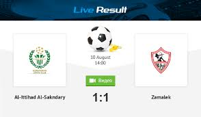 Find out more football tips here. Football Al Ittihad Al Sakndary 1 1 Zamalek Result And Match Statistics Online Live Result August 10 2020