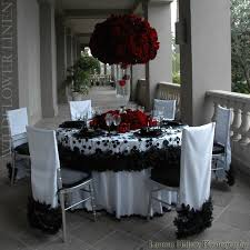 black and red wedding decor page 1