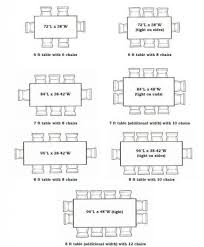 dining room table size dimensions17 dimensions
