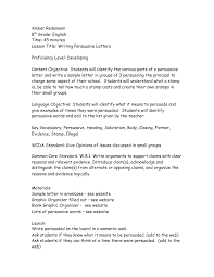 Persuasive Letter Example Strong Gallery Template 2 Nd Grade Ks 1