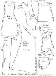 Clothing Sewing Patterns Enchanting Barbie Clothes Patterns Free Printable Sewing Barbie Doll Clothes