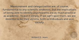 Robert D Hare Measurement And Categorization Are Of Course Awesome Fundamental Quotes Images
