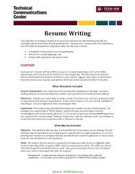 Newest What To Write In Objective In Resume What To Say On A Resume