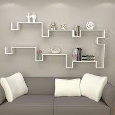 angi floating wooden wall shelf s shape painted mdf furniture set of 2 gb2803