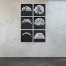 titan lighting 24 in x 24 in moon shadows hand painted canvas on wall art set of 6 with titan lighting 24 in x 24 in moon shadows hand painted canvas