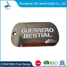 Dog Tag Size Chart Free Sample Custom Blank Metal Anodized Aluminum Detachable