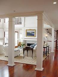 Interior Columns Connected W/ Beam Running Along Ceiling