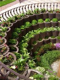 cinder block vertical garden design idea