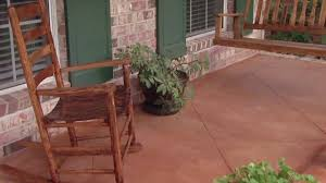 painting a cement floorImproving the Look of a Concrete Porch Floor  Todays Homeowner