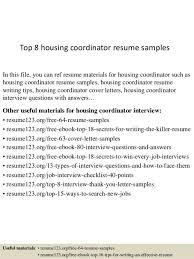 top 8 housing coordinator resume samples 1 638jpgcb1431525448 - Benefits Coordinator  Resume