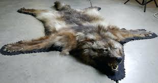 black grey wolf rug loading zoom skin faux creative