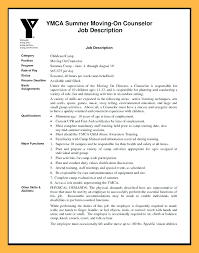 Resume Pro Cover Letter Summer Camp Leader For Counselor Examples Yomm