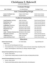 Two Types Of Resumes The Business Of Costuming Resumes Christianne Bakewell