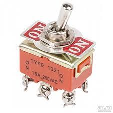 <b>Rexant тумблер 250V</b> 15А (6c) ON-ON двухполюсный — купить в ...