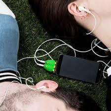 Image result for headphone splitter in use