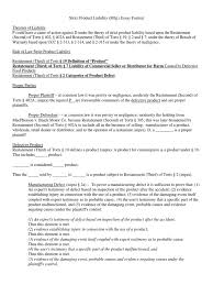 strict liability docshare tips essay format strict product liability mfg