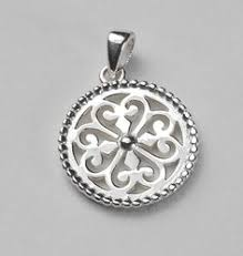 southern gates beaded edge heart scroll pendant der p229 katherine sprouse charleston southern gates jewelry