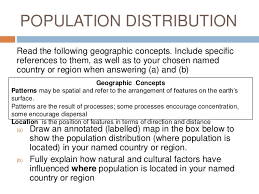population distribution essay question level geography population distribution