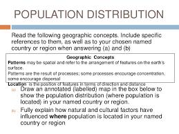 population distribution essay question level geography population distribution