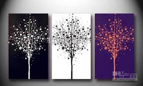 artwork for office walls. 2018 Abstract Tree Black White Purple Oil Painting Canvas Scenery Home Office Wall Art Decor Handmade From Fashiondig, $64.79 | Dhgate.Com Artwork For Walls A